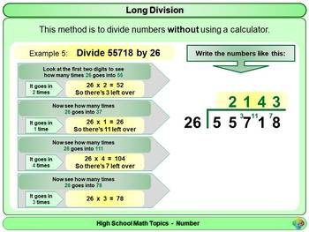 Long Division for High School Math