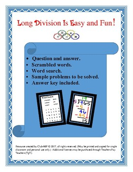 Long Division is Easy and Fun!