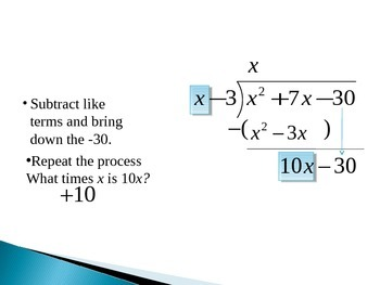 Long Division of Polynomials Animated PowerPoint
