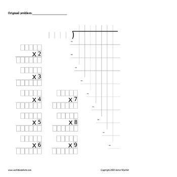 Long Division Template  ApigramCom