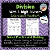 Long Division with 1-Digit Divisor Interactive Notebook