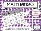Long Division with 2 Digit Divisors NO REMAINDERS Game MATH BINGO