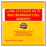 Long Division with Does McDonald's Sell Burgers?