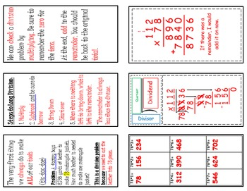 Long Division with Multi Digit Divisors Foldable (Flippable)