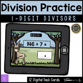 Long Division with One Digit Divisors Boom Cards