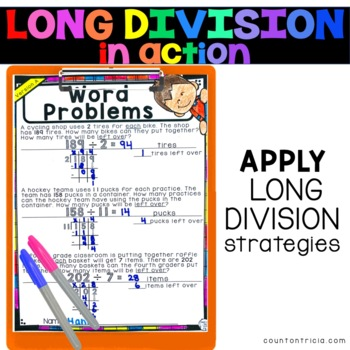 Long Division Activities with Remainders