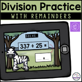 Long Division with Remainders - Boom Cards