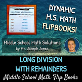 Long Division with Remainders Flip Book
