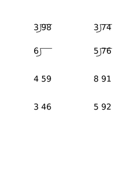 Long Division with Remainders Lesson Packet