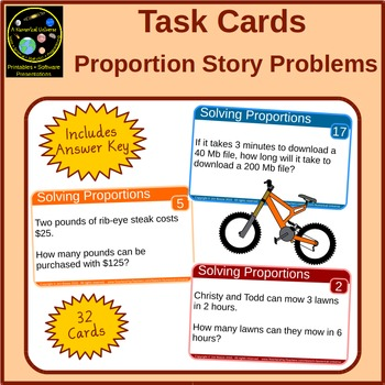 Proportions Task Cards Story Problems