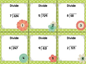 Long Division with Remainders - Spring Edition