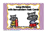 Long Division with Remainders Werewolves Task Cards