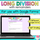 Long Division with Remainders for Google Forms™