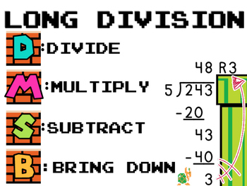 Long Division with SUPER MARIO