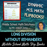 Long Division without Remainders Flip Book