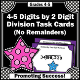 Long Division without Remainders Practice Task Cards 4th Grade Math Review