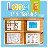 Long E Activities | Long E Worksheets