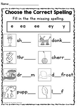 Long E Worksheets and Activities by Top Notch Teaching   TpT