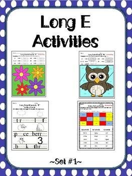 Long E Activities Set #1