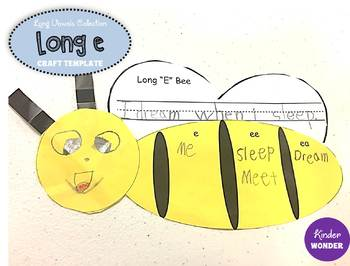 Long E Bee Craft Template