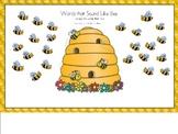 Long E Bee Word Sort for Smart Board