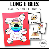 Long E Bees Phonics Games and Craft
