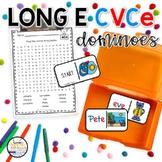 Long E CVCe Domino Phonics Activity for Literacy Centers