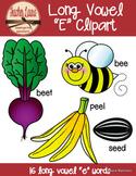 Long E Clipart - Color & BW