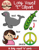 Long E Clipart - Color & BW