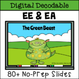 Long E Digital Decodable Story with EE and EA Vowel Team Words