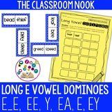 Long Vowel Dominoes: Long E (ee, e_e, ey, y, ea, e)