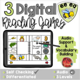 Long E EE EA:  Digital Reading Activities - Distance Learning