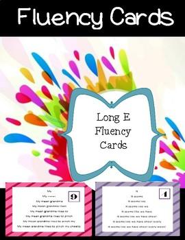 Long E Fluency Cards