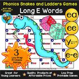 Long E Game: Snakes and Ladders (e_e, ea, ee, y sounds like e)