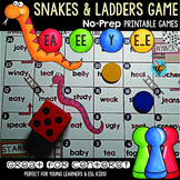 Long E Game: Snakes and Ladders (e_e, ea, ee, y sounds like e)
