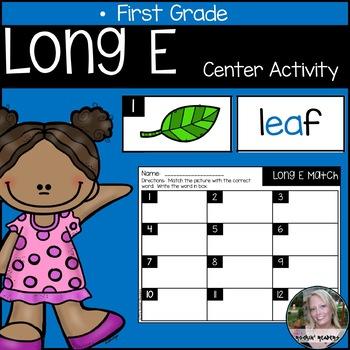 Long E Literacy Center Activity