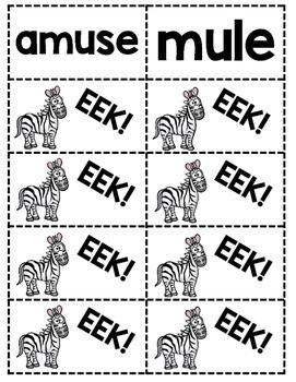 Long E,O,U: EEK!