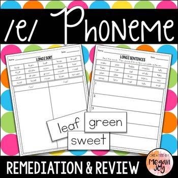 Long E Phoneme - Phonics Practice & Review
