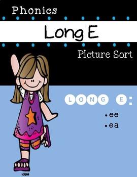 Long E Phonics Picture Sort