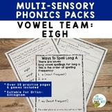 Vowel Team: Long A EIGH   Orton-Gillingham Multisensory Ph