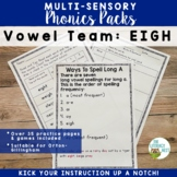 Long A Phonics Practice EIGH Vowel Team Multisensory Orton