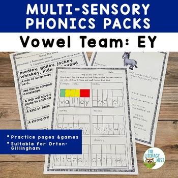 Long E Phonics Practice EY Vowel Team