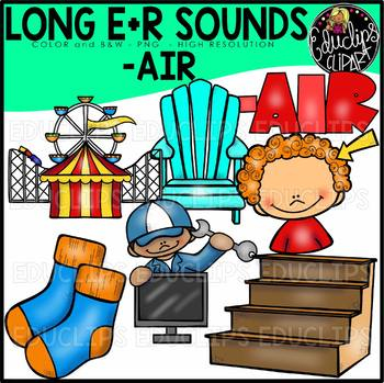 Long E+R Sounds Clip Art Bundle {Educlips Clipart}
