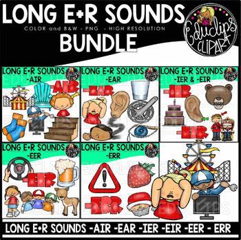 Long E+R Sounds Clip Art Bundle