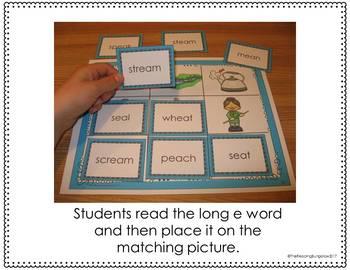 Long E Read and Cover Boards {ee, ea, simple sentences}