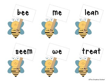 Long E Read and Write the Room / Word Sort