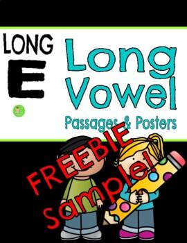 Long E Reading Comprehension Passage FREEBIE Sample
