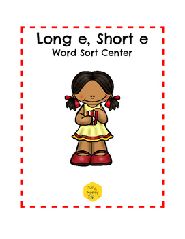 Long E, Short E Word Sort Center
