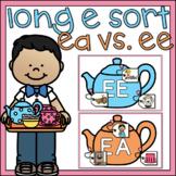 Long E Sort Vowel Pairs EA EE 1st Grade Literacy Center