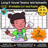 Long E Sorts: EI, IE, EE, EY, E_E | Cut and Paste Worksheets